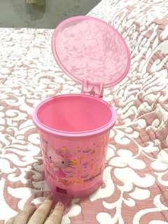 Hello Kitty Miniature Trash Bin for Tables