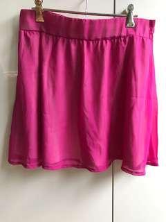 Hot Pink Crepe Skirt