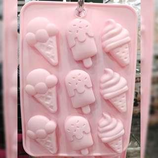 雪糕形#朱古力矽膠模#silicone mold for chocolate#粉紅/粉藍色😍pink/blue