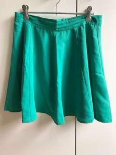 Aqua Circle Skirt