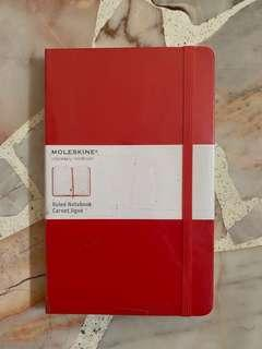 🚚 Red Moleskine Notebook Ruled Notebook