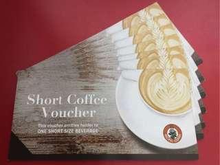 Pacific Coffee coupon voucher 細杯 $21/張 包平郵 或 元朗交收 或 順豐站取加$5