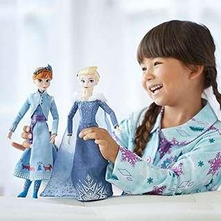 🚚 [Juniorcloset] 🆕️ authentic Exclusive Disney Frozen Anna & Elsa Doll set (Olaf's Frozen Adventure)