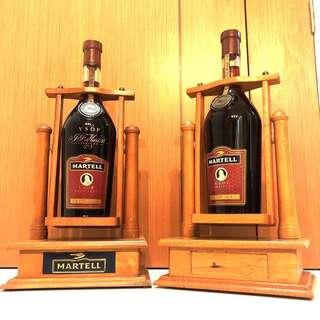 (3L) Martell VSOP Cannon Swing Wooden Stand