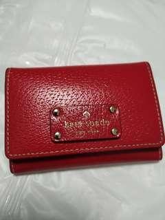 Kate Spade Red Wallet Card Holder Coin Purse