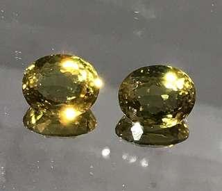 🚚 12 cts Colour Changing Sultanite Oval Lab Pair 9.7 x 10.8 mm Loose Gem