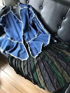 韓國牛仔褸 半截裙 made in Korean jeans skirt party dress D&G Guess
