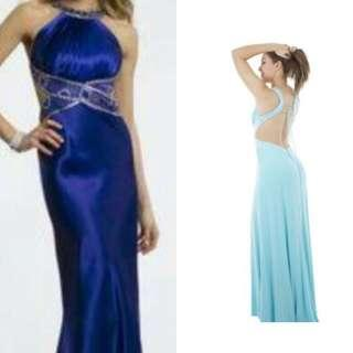 Morgan & Co. prom gown long gown blue gown pageant gown formal gown blue dress