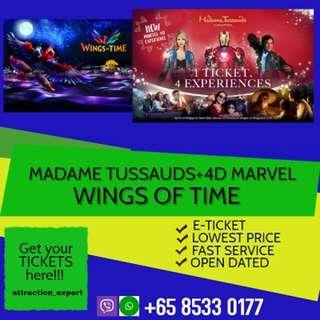 MADAME TUSSAUDS + IOS + BOAT RIDE + MARVEL 4D EXPERIENCE (NEW) + WINGS OF TIME