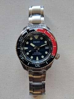 Seiko SBDX001 Marine Master 300 Upgraded Homage with Sapphire Pepsi Bezel
