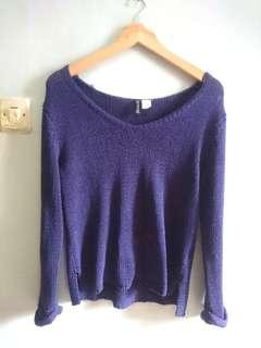Divided by H&M Sweater in Purple