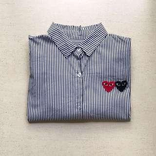 🚚 SALE❗️CDG inspired long sleeve buttoned up top