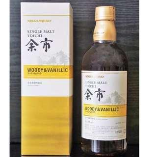 余市 Woody & Vanillic 單一麥芽威士忌 酒 500ml 竹鶴17 宮城峽 日光 同廠 日本 日光 日果 Yoichi Miyagikyo Taketsuru Nikka Japanese Whisky