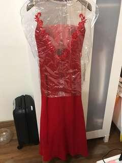 Red Lace Dinner Dress