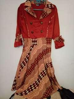 Dress batik merah