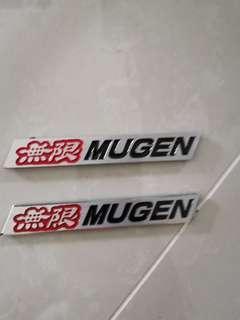 Mugen metal car sticker Honda Civic fit vezel crv hrv crossroad