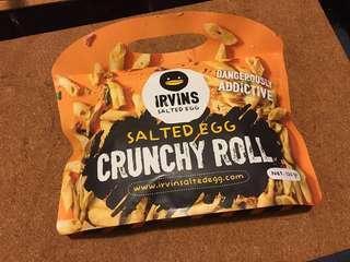 新加坡代購預訂(新產品)Irvins 咸蛋脆捲 crunchy roll
