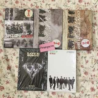 [WTS] EXO DONT MESS UP MY TEMPO AND LOVE SHOT ALBUM