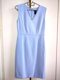 BN Authentic Ann Taylor Baby Blue Dress