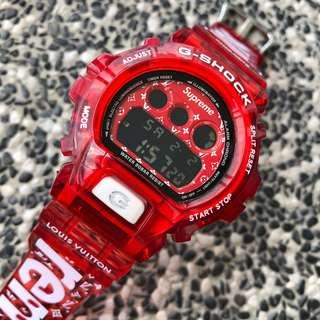🚚 🧧🧧🧧Origibal DW6900 is Custom LV Supreme replacement strap , dw-6900 , red watch for new year , Casio
