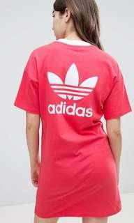 Adidas Originals Trefoil Dress in Core Pink