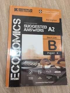 A levels BAC A2 economics suggested answers
