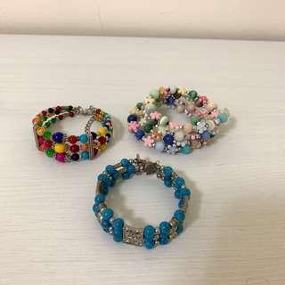 🚚 土耳其購入 串珠銀飾手環