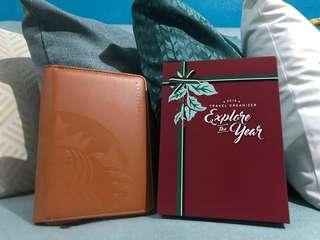 REPRICED Starbucks Organizer with Card (Orange)
