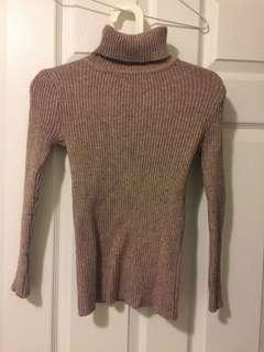 Mauve pink turtle neck sweater