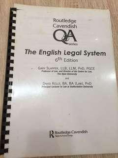 A levels AS Law Routledge Q&A English Legal System