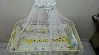 Baby cots with mosquito net
