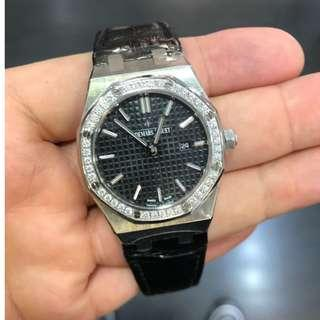 AP Audemars Piguet Royal Oak Ladies Diamonds, 33mm Quartz