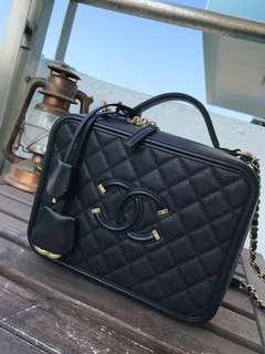 Chanel CC Vanity case 24cm coco handle #MILAN01 Hermes