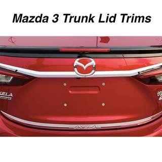 Mazda 3 Trunk Lid Top/ Bottom Trim