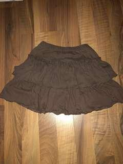 Double layer cotton skirt with Shorts