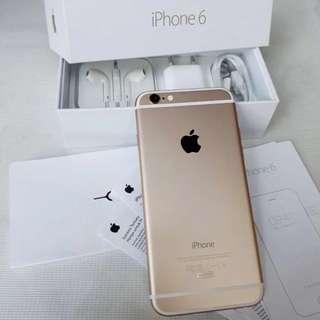 Apple iPhone 6 Smartphone 32GB Gold Garansi Resmi