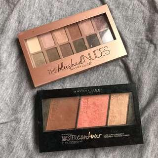 MAYBELLINE New York Contour palette & the blushed nudes eyeshadow palette