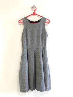 🚚 Grey Skater Dress (Tagged S but fits XS, UK6-4)
