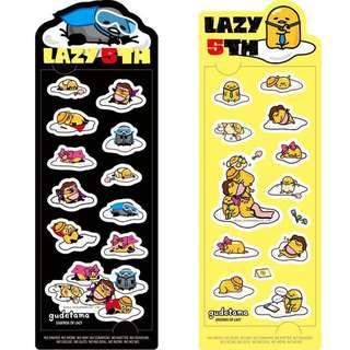 🚚 Gudetama Exclusive Lazy 5th Anniversary Stickers!