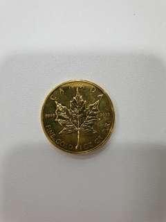 Canadian maple leaf 1Oz fine gold coin