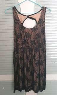 Moving sales black lace one piece dress