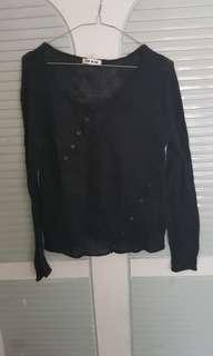 moving sales 黑色上衣 black see though top
