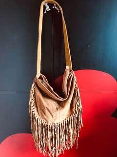 Pull and Bear Boho Leather Bag
