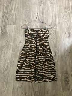 Body & Soul Leophard Mini Dress