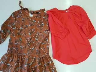 ef26dfda8ed Dressabelle floral romper and H   M red top
