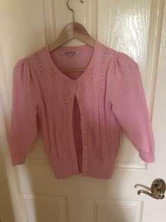 Review Pink Cardigan