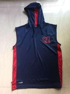 Boys 11-12 yrs old Pto Dry Hoodie Sleeveless T shirt slightly Used! Value for $$$!  Can be posted upon request, charges will be borne by buyer!