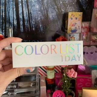 COLOR LIST 1 DAY GREY CONTACTS