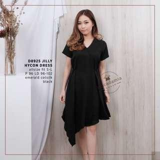 Jilly Hycon Dress Casual Formal Black dress