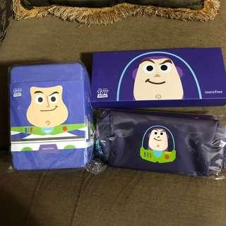 🚚 韓國帶回現貨)innisfree x 玩具總動員 巴斯光年 濟州寒蘭極潤滋養霜禮盒+化妝包